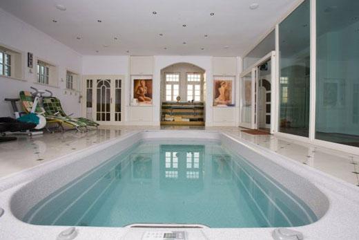 Плавательный бассейн спа в доме