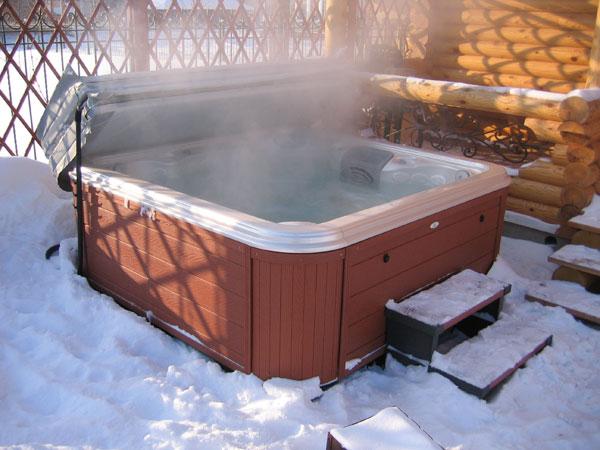 СПА бассейн зимой