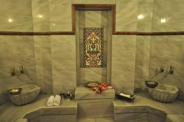 Фото интерьера турецкой бани из мрамора