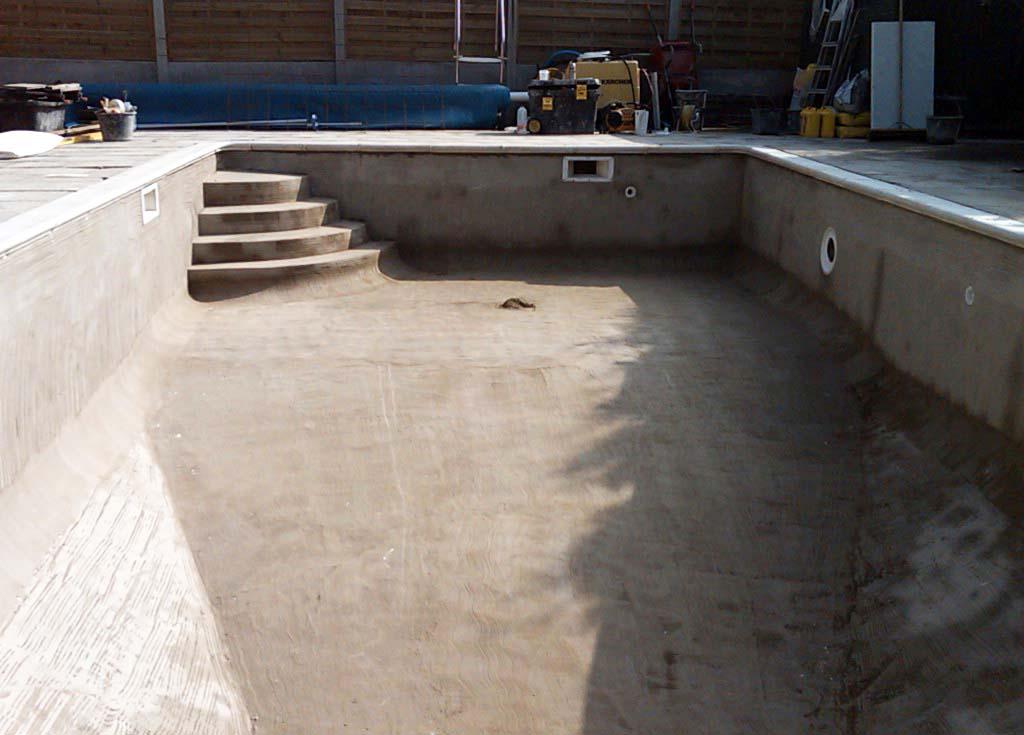 Чаша для бассейна из бетона своими руками