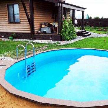 Сборный бассейн построен в 2014 году в поселке Тарлаши
