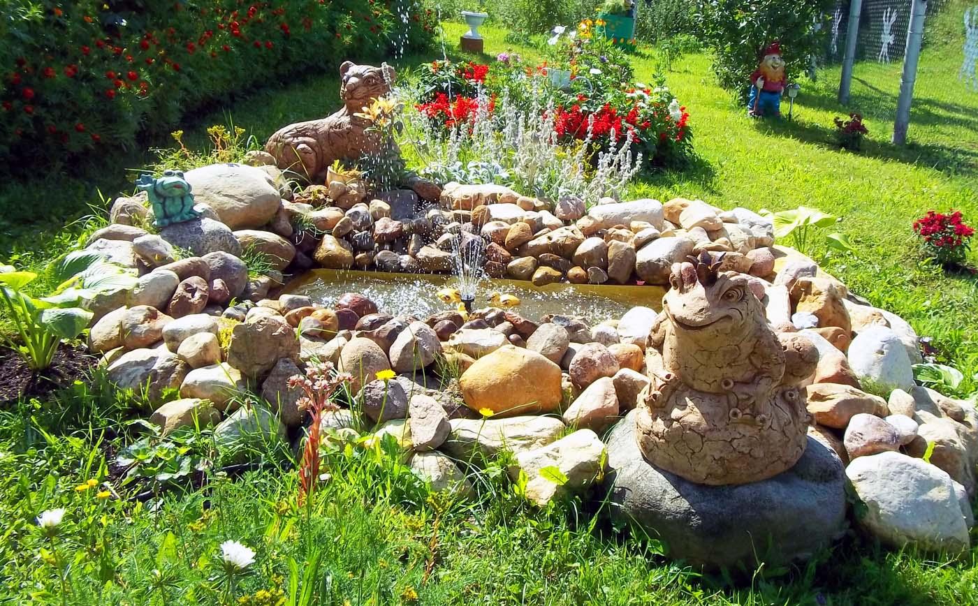 Фонтан в саду сделать