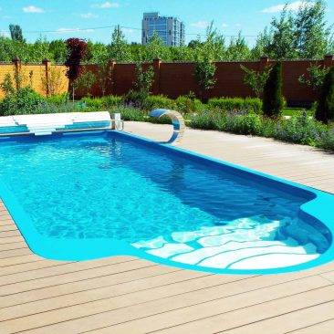 Композитный бассейн Luxe pools «Garda» (Васильево 2014 год)