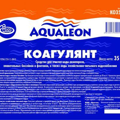 Коагулянт для бассейна жидкий Aqualeon (1.1 л, 35 л)