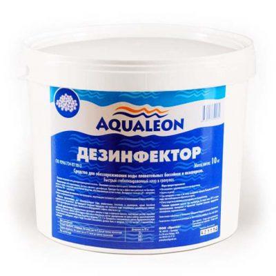 Быстрый стабилизированный хлор Aqualeon Дезинфектор БСХ в гранулах (1 кг, 5 кг, 10 кг)