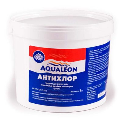 Антихлор для бассейна в гранулах Aqualeon (1 кг, 5 кг)