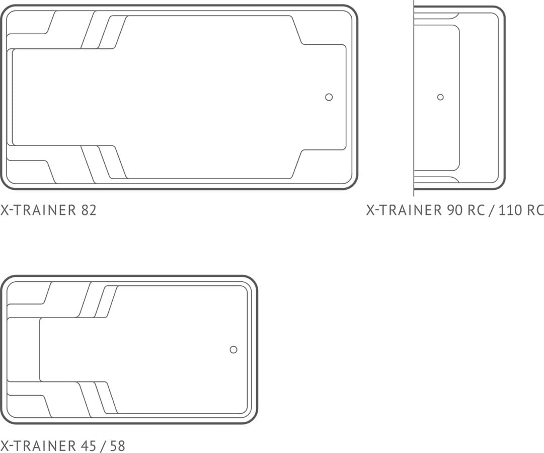 Композитный бассейн Compass Pools X-Trainer (схема)